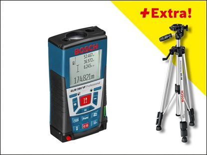 Снимка на Лазерен далекомер GLM 250 VF Professional+ Статив BOSCH BT 150