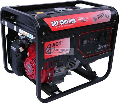 Снимка на Бензинов монофазен генератор AGT 4501 HSB TTL с AVR