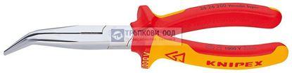 Снимка на Клещи с издължени челюсти и режещ ръб криви KNIPEX 200 VDE