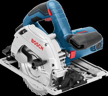 Снимка на Ръчен циркуляр Bosch GKS 55+ G Professional+ Водещ линеал FSN 1600 в L-BOXX