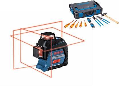 Снимка на GLL 3-80 C линеен лазерен нивелир + BM 1 + 12 V Батерия + Зарядно устройство + Мишена + Чантичка за съхранение в L-boxx+Бонус комплект Gedore