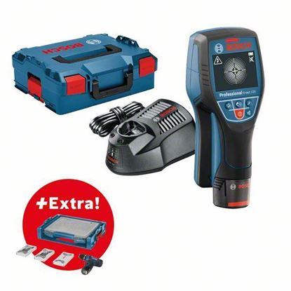 Снимка на Детектор Скенер за стени D-tect 120 Professional+ 1. Akku 1,5Ah+  Акумулаторен винтоверт GSR 12V-15 в I-boxx и 39 проф.консуматива