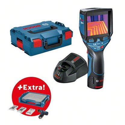 Снимка на GTC 400C Термокамера; 12V /1,5 Ah батерия; GAL 1230 CV зарядно; L-Boxx+Акумулаторен винтоверт GSR 12V-15 в I-boxx и 39 проф.консуматива