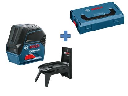 Снимка на Линеен лазер BOSCH GCL 2-15 Professional+RM1 0601066Е00+L-boxx Mini