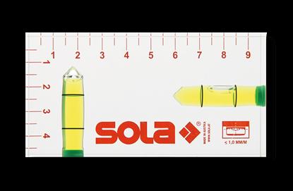 Снимка на Акрилен нивелир;R 102 green;1616101;SOLA, размери. 95x49x15mm