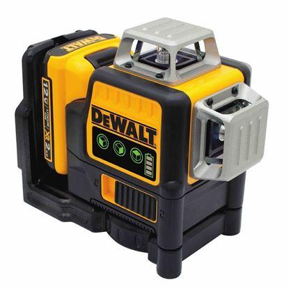 Снимка на Лазерен нивелир 10.8V MAX* 3 x 360 Green Line Laser Dewalt DCE089D1G, зелен лъч
