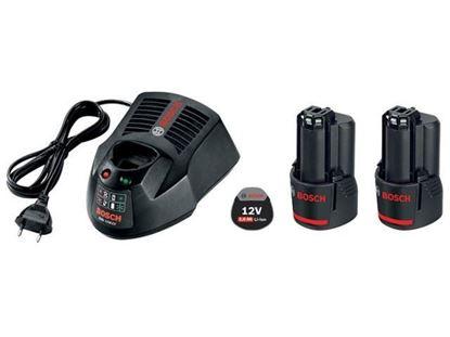 Снимка на Комплект Bosch зарядно GAL 1230CV + 2 ак.батерии GBA 12V/2.0Ah;0615990J26