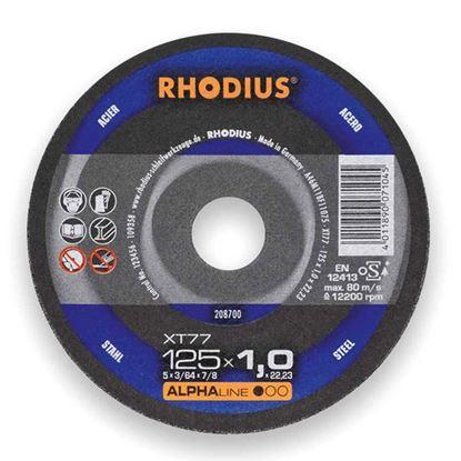 Снимка на Карбофлексов диск за рязане на метал 125х1.0х22,23 XT77;208700