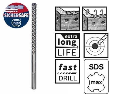 Снимка на Свредло Bosch с цяла карбидна глава за армиран бетон SDS-max-8X 20 x 200 x 320 mm;2608578626