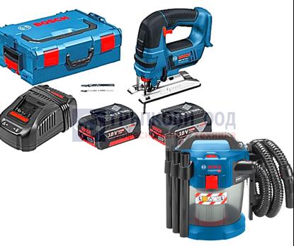 Снимка на Акумулаторен прободен трион Bosch GST 18 V-LI B Professional,2x5.0Ah ,L-BOXX +GAS 18V-10L(solo)