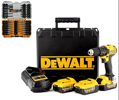 Снимка на Акумулаторен винтоверт DEWALT DCD780M3,18V,3x4.0Ah+Консумативи